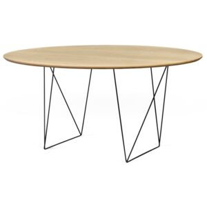 Masă dining TemaHome Row, decor stejar, ⌀ 150 cm, natural
