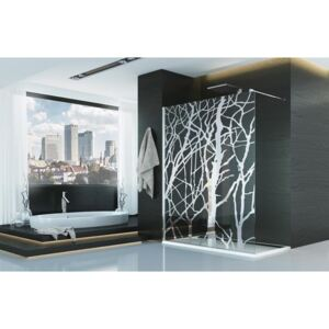 PROMO Cabina dus Walk-in SanSwiss Pur Tree PDT4P, 100 x H200 cm