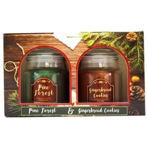 Set lumânări aromate Pine Forest and Gingerbreadcookies, 2 buc