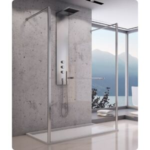 Cabina dus Walk-in SanSwiss Fus2 100 x H200 cm sticla securizata
