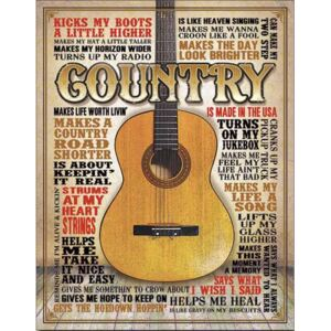 Placă metalică - Country (Made in America)