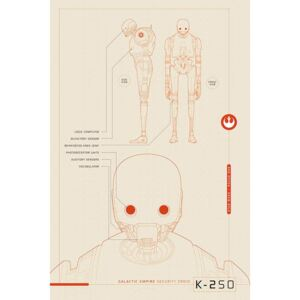 Poster - Star Wars Rogue One (K-2S0 Blueprints)