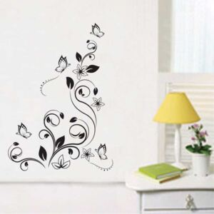 Sticker perete Black Flower Decor 11
