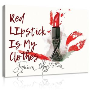 Tablou canvas: Red Lipstick is My Clothes - 100x75 cm