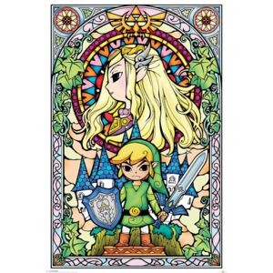 Legend Of Zelda - Stained Glass Poster, (61 x 91,5 cm)