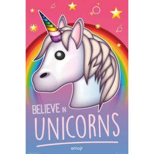 Emoji - Believe in Unicorns Poster, (61 x 91,5 cm)