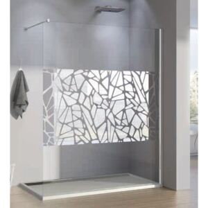 PROMO Cabina dus Walk-in SanSwiss Pur Stone PDT4P, 100 x H200 cm
