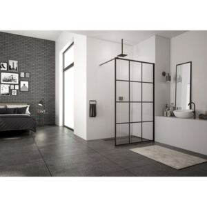 PROMO cabina dus Walk-in SanSwiss Easy Loft 75 Industries 100 x H200 cm