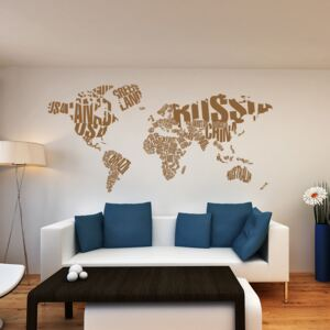 GLIX World map - autocolant de perete Maro 200 x 100 cm
