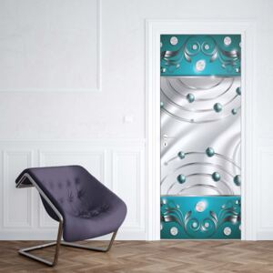 GLIX Tapet netesute pe usă - Abstract Modern Design Turquoise