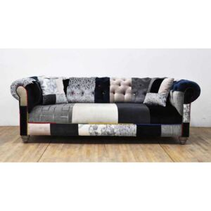 Sofa Chesterfield Patchwork - Black&White