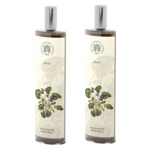 Set 2 spray-uri parfumate de interior cu aromă de violete Bahoma London Fragranced, 100 ml