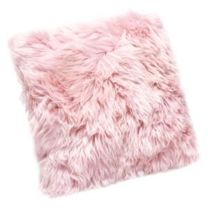 Pernă din blană de oaie Royal Dream Sheepskin, 30 x 30 cm, roz