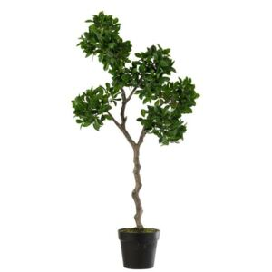 Gins Ficus Ginseng artificial, Plastic, Verde