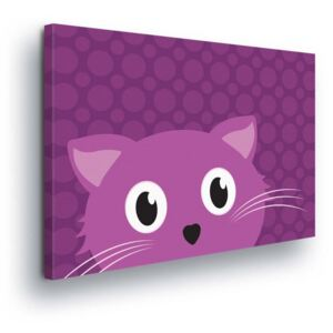 GLIX Tablou - Cartoon Cat 80x60 cm