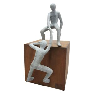 Figurina HELPING HAND, metal, 26x26x52 cm