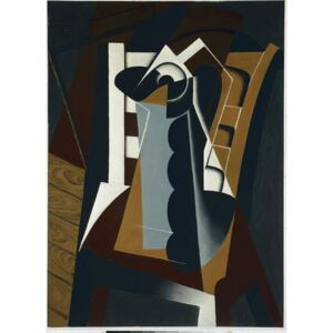 Gris, Juan - Still Life on a Chair - Oil on wood, 1917 Reproducere