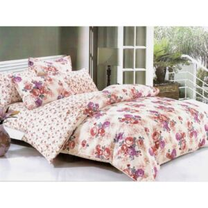 Lenjerie Evolution bumbac satinat ELV276 Romantic flowers