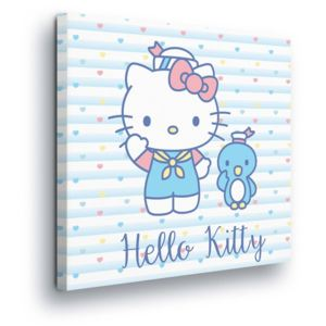 GLIX Tablou - Blue Friend Hello Kitty 80x80 cm