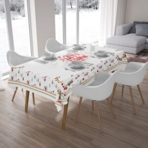 Fata de masa bumbac 100% cu motive de Craciun 140x180cm, Club Cotton, Happy Winter