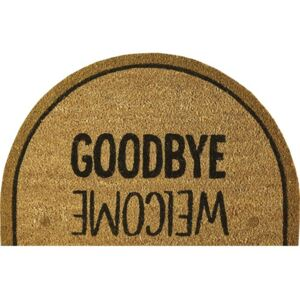 Covoras intrare cocos Goodbye/Welcome 40x60 cm