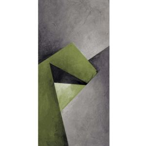 COVOR DIAMOND 3D, DREPTUNGHIULAR,120X170, ABSTRACT, VERDE, GRI, NEGRU, POLIPROPILENA