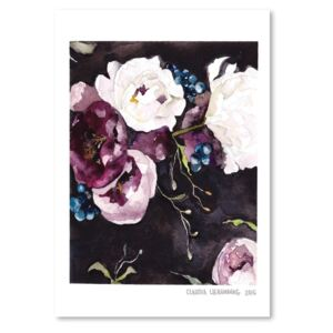 Poster Americanflat Blooms on Black V, 30 x 42 cm