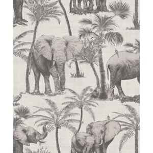 Arthouse Tapet - Elephant Grove Elephant Grove Charcoal