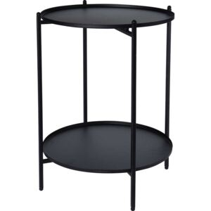 MASUTA ROTUNDA MULTIFUNCTIONALA,40X51 CM,NEGRU,METAL