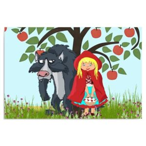 CARO Tablou pe pânză - Little Red Riding Hood 40x30 cm
