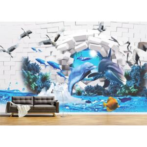 Tapet Premium Canvas - Abstract 3d animale