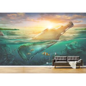 Tapet Premium Canvas - Abstract sticla plutind