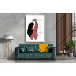 Tablou Canvas - Abstract femeie in costum