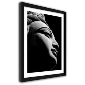 CARO Imagine în cadru - Oriental Statue In Black And White 2 Negru 21x29,7 cm
