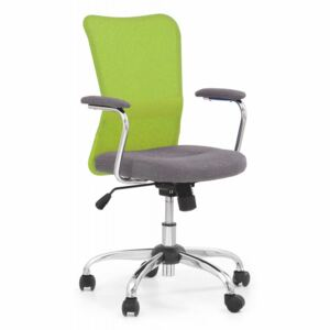 ANDY scaun tineret gri/verde lime