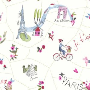 Arthouse Tapet - Paris with Love Paris with Love White Multi