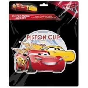 Sticker de perete cu led Cars Piston Cup SunCity, 20 x 20 cm