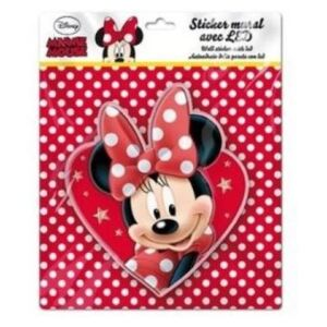 Sticker de perete cu led Minnie Heart SunCity, 20 x 20 cm
