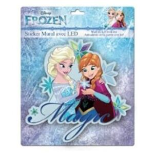 Sticker de perete cu led Frozen Magic SunCity, 20 x 20 cm