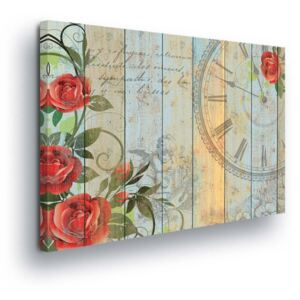 GLIX Tablou - Retro Flower Decoration 80x60 cm