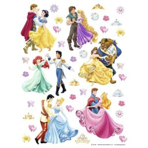 Sticker Disney Princes & Princesses 65x85 cm