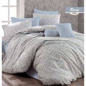 Lenjerie King Size Majoli Home Collection 4 piese bumbac ranforce Rossy