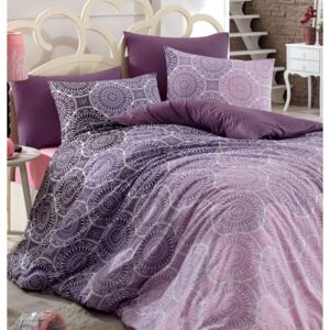 Lenjerie King Size Majoli Home Collection 4 piese bumbac ranforce Colin V1