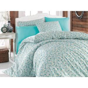 Lenjerie King Size Majoli Home Collection 4 piese bumbac ranforce Lily