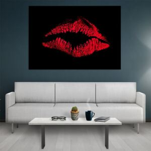 Tablou canvas Abstract Lips 50x30 cm