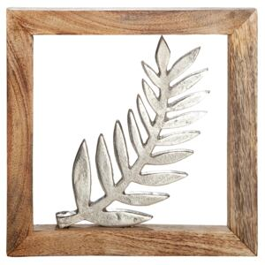 Decoratiune de perete LEAF, metal, 20 x 2 x 20 cm