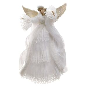 Varf de brad Angel White 40 cm