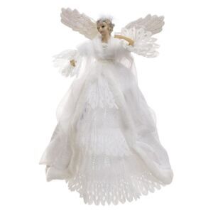 Varf de brad Angel White 35 cm