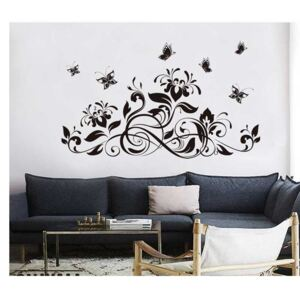Sticker perete Black Flower Decor 10
