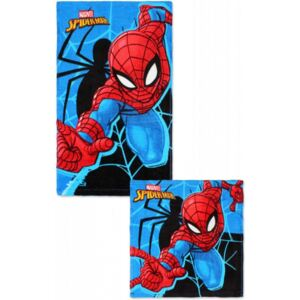 Set prosoape fata si maini Spiderman SunCity, 2 bucati/set